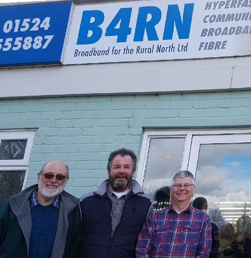 B4RN visit by Gareth, Dave andJim